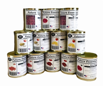 Case (12 Cans) of Future Essentials Freeze Dried Fruit Variety