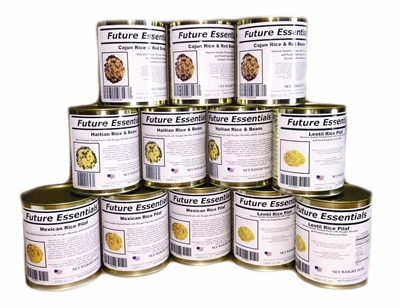 Case (12 Cans) of Future Essentials Canned Rice Variety