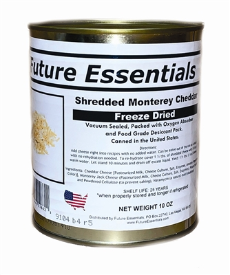Future Essentials Freeze Dried Shredded Monterey Cheddar Cheese