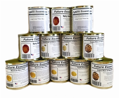 Case (12 Cans) of Future Essentials Canned Rice/Couscous/Quinoa Variety