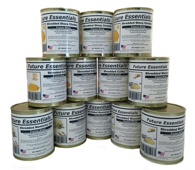 Case (12 Cans) of Future Essentials Freeze Dried Cheese Variety