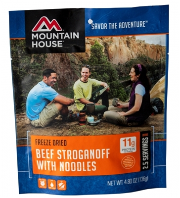 Beef Stroganoff with Noodles by Mountain House, Pouch