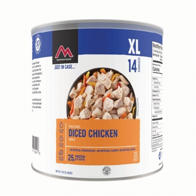 Freeze Dried Cooked Chicken by Mountain House, #10 Can