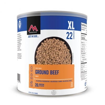 Freeze Dried Ground Beef by Mountain House, #10 Can