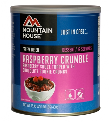 Freeze Dried Raspberry Crumble by Mountain House, #10 Can