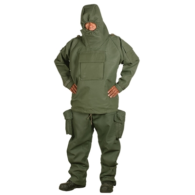 NBC Chemical Suit (Size Large) with Gloves, Shoes, and Bag (Belgian Military Surplus)