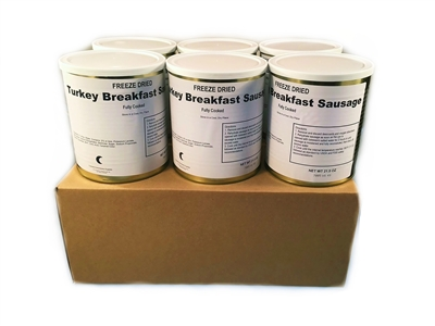 Freeze Dried Fully Cooked Turkey Breakfast Sausage