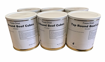 Freeze Dried Top Round Beef Cubes