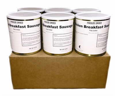Freeze Dried Fully Cooked Chicken Breakfast Sausage