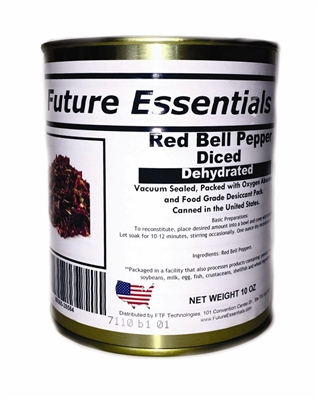 Future Essentials Dehydrated Diced Red Bell Peppers