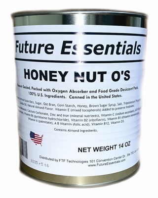 Future Essentials Honey Nut O's Cereal, #10 Can
