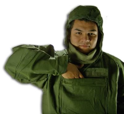 U S  Military Surplus NBC (Nuclear, Biological and Chemical) Protective  Jacket + Pants (Size SMALL)