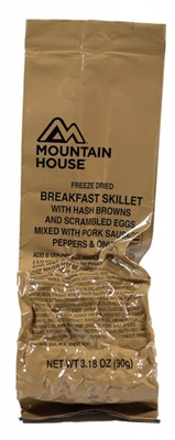 Breakfast Skillet (Hash Browns, Scrambled Eggs, Pork Sausage, Peppers, and Onions) - Mountain House MCW Meal