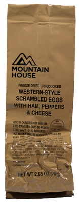 Western Style Scrambled Eggs with Ham, Peppers & Cheese - Mountain House MCW Meal