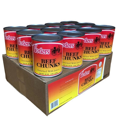 Case (12 Cans) of Yoder's fresh REAL Canned Beef Chunks